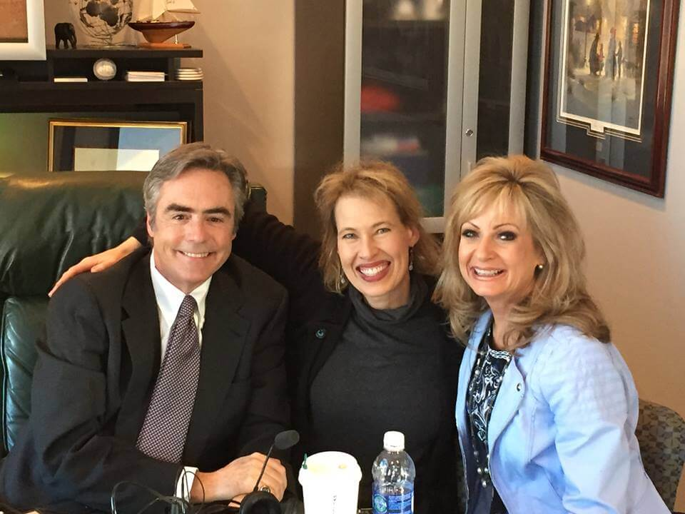 Kelly with Dr. Gary and Barb Rosberg, America's Family Coaches. Click to listen to Kelly's podcast.